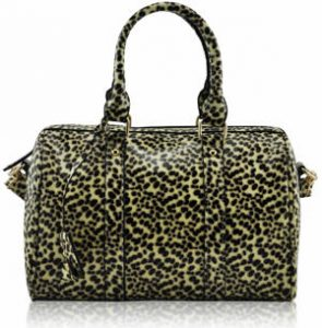 Beige Patent Handbag