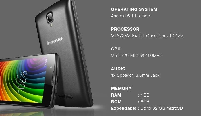 Lenovo A2010 Specifications image