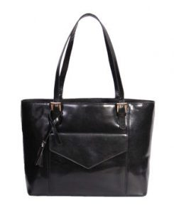 Womens Black Real Leather Handbag Quality Fashion Twin Strap Shoulder Tote A1521