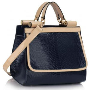 Navy Vintage Style Fashion Leather bag