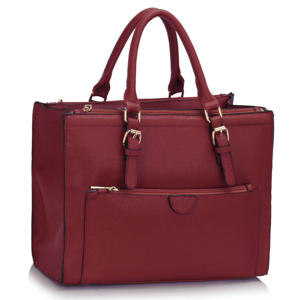 Burgundy Front Pocket Handbag