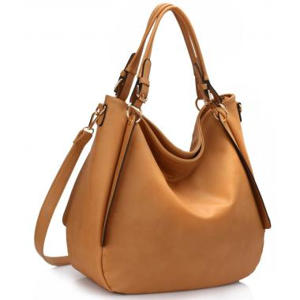 Large Nude Hobo Bag