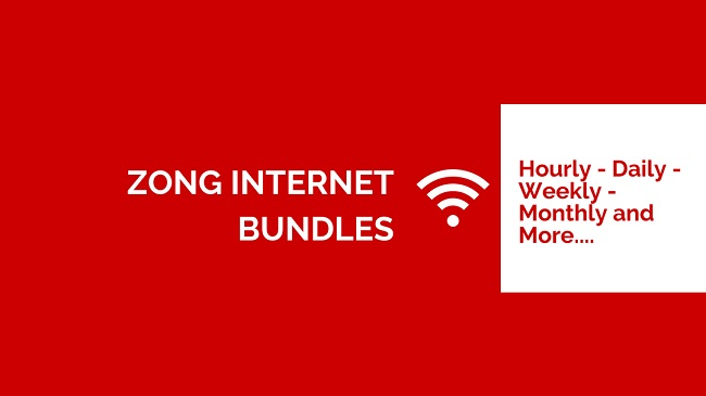 Zong Internet Packages (Daily, Weekly and Monthly) - Prepaid/Postpaid