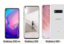 Galaxy S10, S10 Lite and S10 Plus