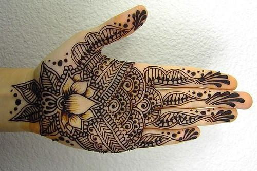 Arabic Flower Mehndi Design for Front Hand