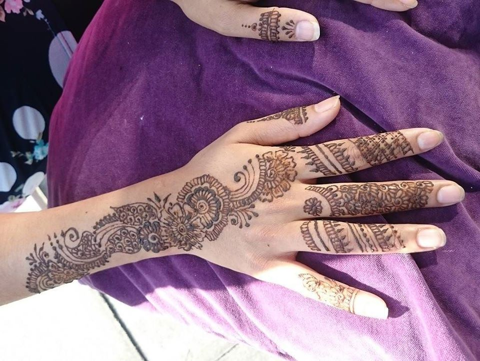 Arabic Mehndi Back Side