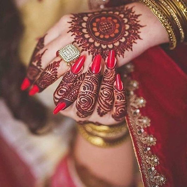 bridal mehndi simple