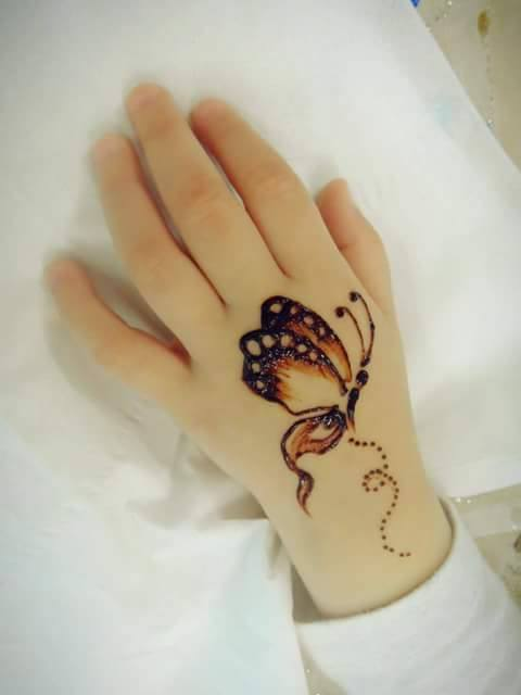 butterfly mehndi design for kids