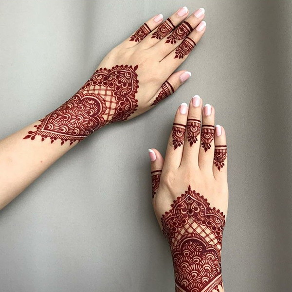 easy mehndi art for hands