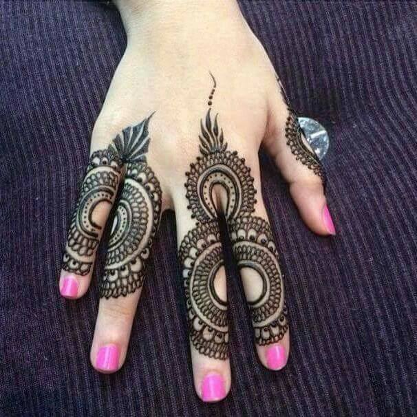 fingers mehndi simple