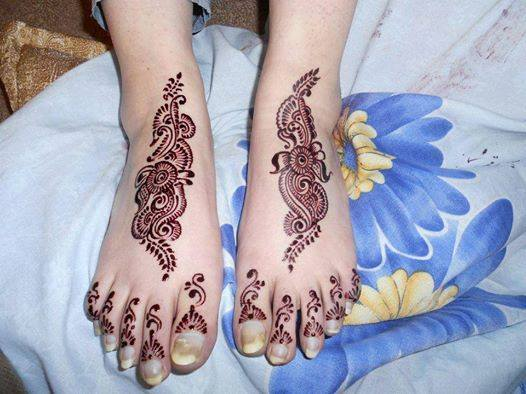 foot mehndi art