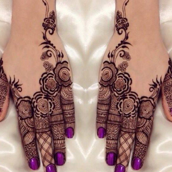 indian henna flower designs