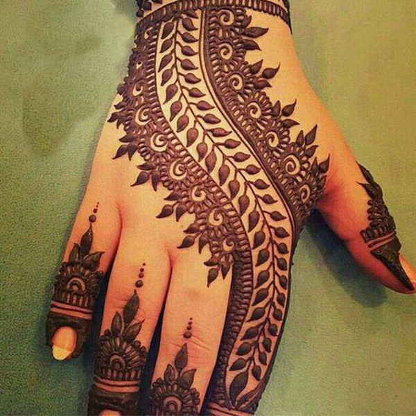 indian mehndi design simple