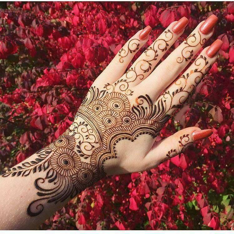 Mehndi Arabic Design Simple