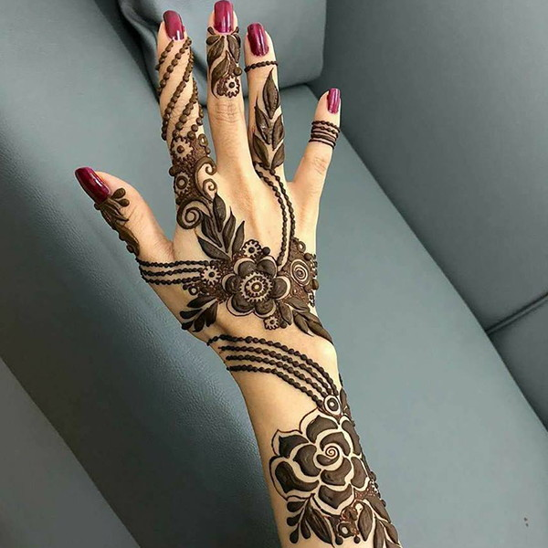pakistani henna design