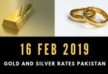 Gold Rates 16-02-2019