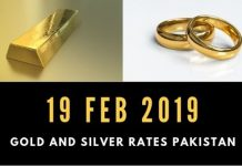 Gold rates 19 Feb 2019