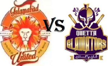 Islamabad United Take on Quetta Gladiators