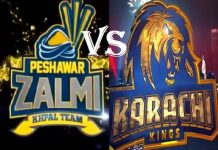 Peshawar Zalmi Takes on Karachi Kings PSL 2019