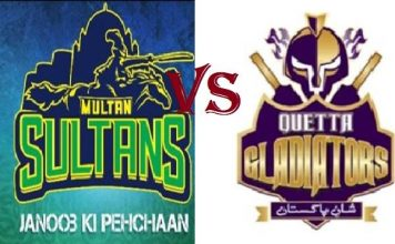 Quetta Gladiators take on Multan Sultan in Sharjah Stadium 20 Feb 2019