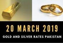 Gold Rates in Pakistan 20 March 2019