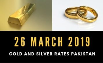 Gold rates 26 March 2019