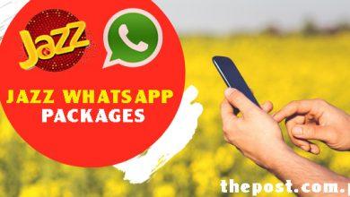 Jazz Prepaid WhatsApp Packages