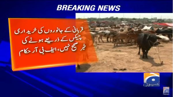 No tax on Qurbani Animals