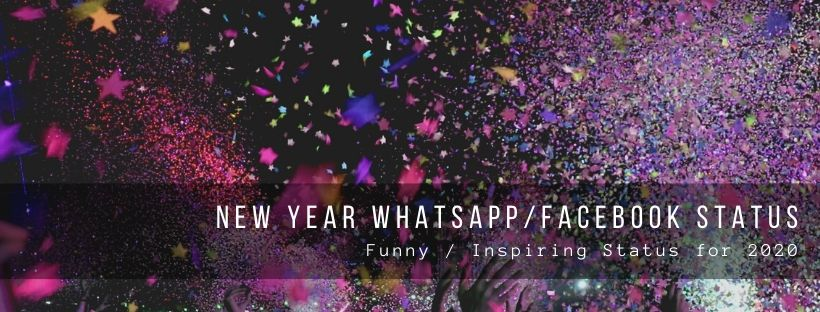 WhatsApp and Facebook status for New Year