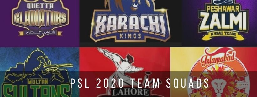 Pakistan Super League 2020 Team Squads
