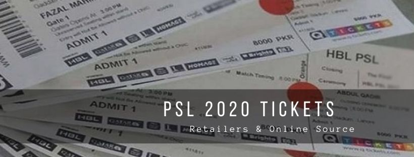 Pakistan Super League 2020 Tickets