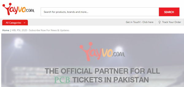 Yayvo for PSL Tickets